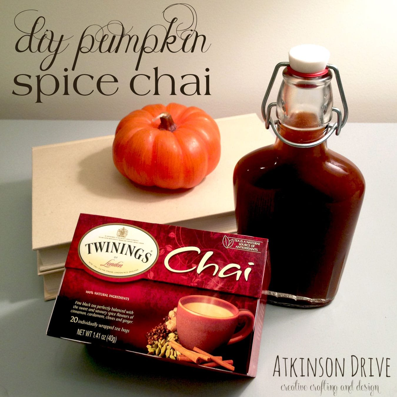DIY Pumpkin Spice Chai (with homemade syrup)