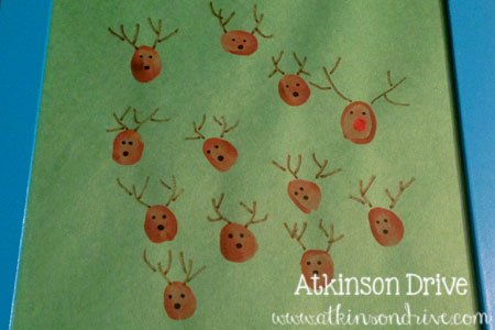 Kids' Handprint Christmas Art   Atkinson Drive