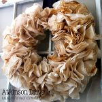 {Tea-Stained} Coffee Filter Wreath | Atkinson Drive