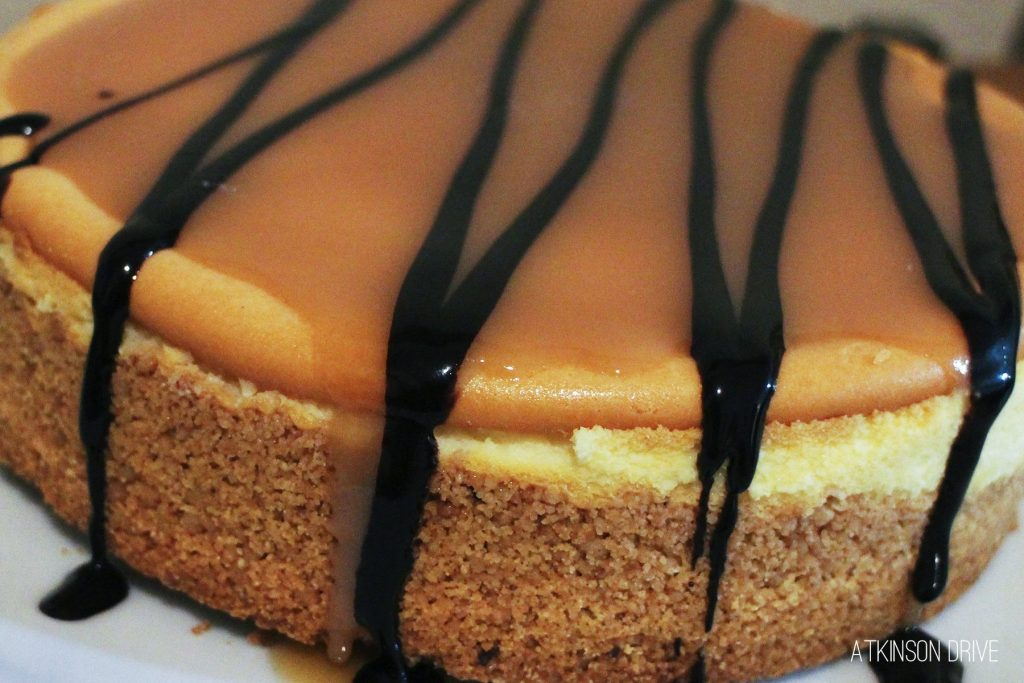Use this 10-Minute Salted Caramel Sauce to create a show-stopping Salted Caramel Chocolate Cheesecake this holiday season!