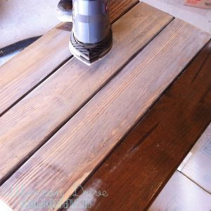 Partially Sanded Table Top