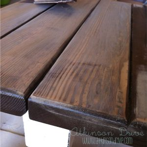 Sanded Table Top Close Up