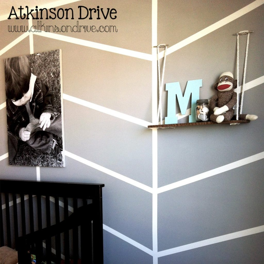 Simple Chevron Walls | Atkinson Drive