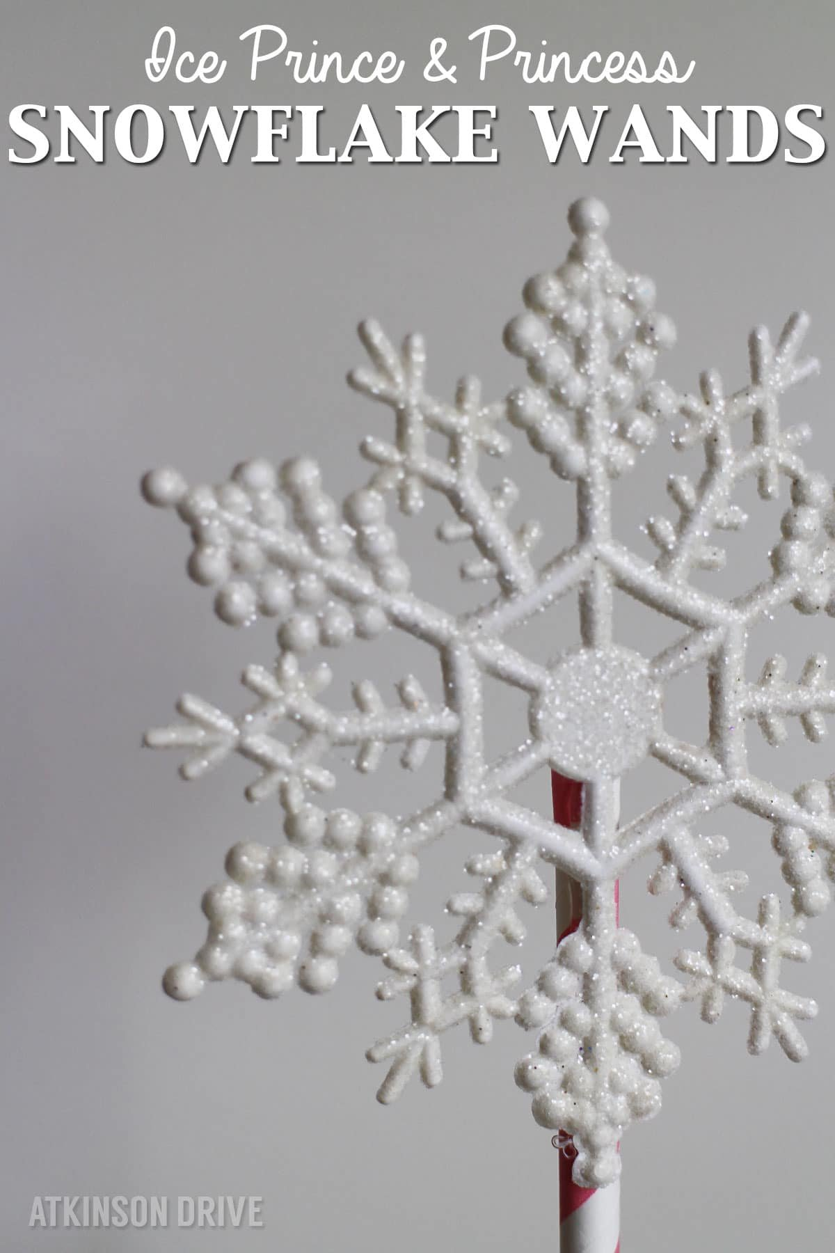 DIY Ice Princess Snowflake Wand