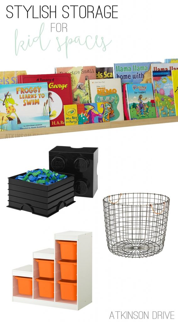 Little ones come with a lot of stuff - that's why stylish storage for kid spaces is so important! We've compiled a few of our favorite storage pieces to share with you to help solve that problem!