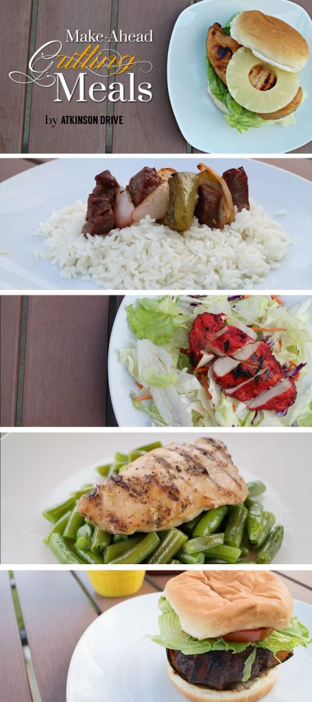 Make-Ahead Grilling Meals by Atkinson Drive. 15 delicious freezer meals that are perfect for the grill.