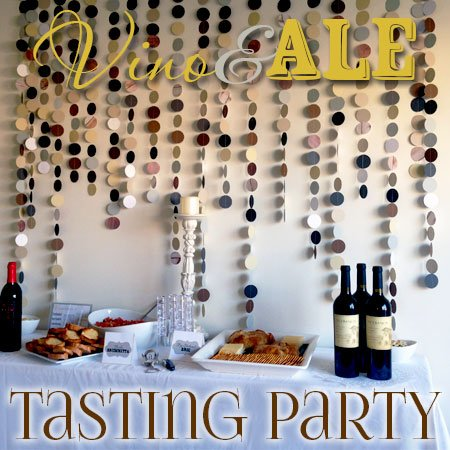 Vino & Ale {Beer & Wine} Tasting Party | Atkinson Drive