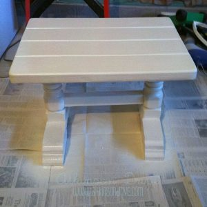 White Table With No Distressing